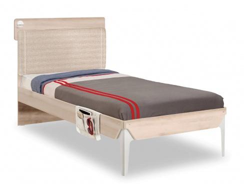 Študentská posteľ 100x200cm s poličkou Veronica - dub svetlý/biela