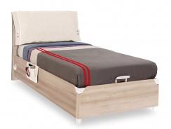 Výklopná posteľ 100x200cm s úľožnym priestorom Veronica - dub světlý/bílá