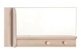 Nástenné zrkadlo Veronica - dub svetlý/biela
