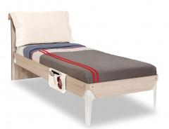 Študentská posteľ 100x200cm s vankúšom Veronica - dub svetlý/biela