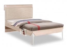 Študentská posteľ 120x200cm s poličkou Veronica - dub svetlý/biela