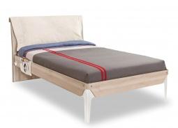 Študentská posteľ 120x200cm s vankúšom Veronica - dub svetlý/biela