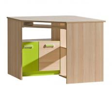 Rohový stôl Limo L11 - jaseň coimbra/zelená