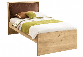 Detská posteľ s vankúšom Cody 100x200cm - dub svetlý