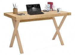 Minimalistický písací stôl Cody - dub svetlý/béžová