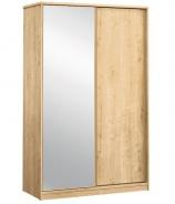 Skriňa s posuvnými dverami a zrkadlom Cody - dub svetlý