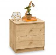 Zásuvkový nočný stolík Cody - dub svetlý