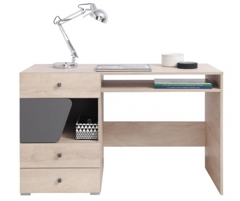 Písací stôl Gama - dub/antracit