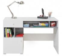 Písací stôl Omega - biela/betón