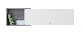 Závesná polica Omega I - biela/betón