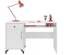 Písací stôl Bjorn, škandinávsky štýl - biela