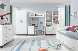 Detská izba Bjorn, škandinávsky štýl - biela