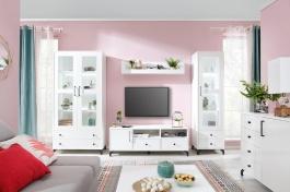 Obývacia izba Bjorn A, škandinávsky štýl - biela