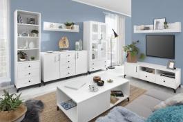Obývacia izba Bjorn B, škandinávsky štýl - biela