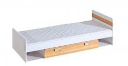 Detská posteľ 80x195cm s úložným priestorom Melisa - biela/dub nash