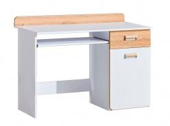 Počítačový stôl Melisa - biela/dub nash