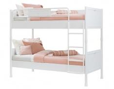 Detská poschodová posteľ 90x200cm Ema - biela