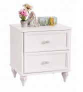 Nočný stolík Ema - biela