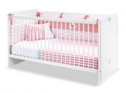 Postieľka pre bábätko 70x140cm Ema - biela