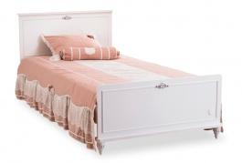 Študentská posteľ 120x200cm Ema - biela