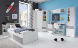 Detská izba Beta - biela/dub wilton/šedá