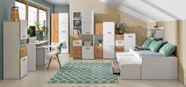 Detská izba Melisa I - biela/dub nash
