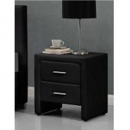 Nočný stolík, ekokoža, čierna, CASTEL