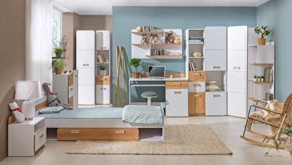 Detská izba Melisa II - biela/dub nash
