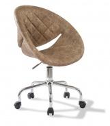 Čalúnená stolička na kolieskach Celeste - hnedá