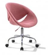 Čalúnená stolička na kolieskach Celeste - ružová