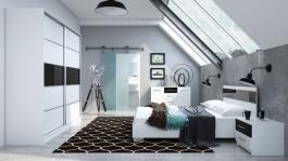 Spálňa DUBAJ C (posteľ 160, skriňa, komoda, 2 nočné stolíky)