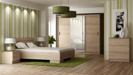 Spálňa VISTA sonoma (posteľ 160, skriňa, komoda, 2 nočné stolíky)