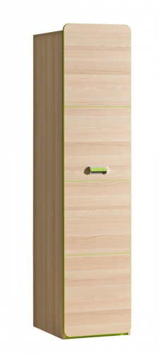Jednodverová šatníková skriňa Melisa - jaseň/zelená