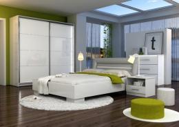 Spálňa MALAGA (posteľ 160, skriňa, komoda, 2 nočné stolíky)