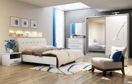 Spálňa PALERMO (posteľ 160, skriňa, komoda, 2 nočné stolíky)