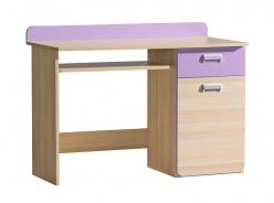 Počítačový stôl Melisa - jaseň/fialová