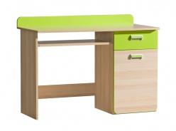 Počítačový stôl Melisa - jaseň/zelená