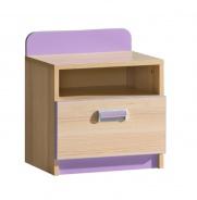 Detský nočný stolík Melisa - jaseň/fialová