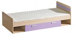 Detská posteľ 195x80cm s úložným priestorom Melisa - jaseň/fialová