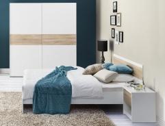 Spálňa WENECJA (skriňa, posteľ, 2ks nočný stolík)
