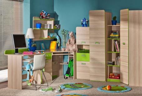 Detská izba Melisa I - jaseň/zelená