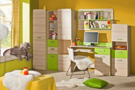 Detská izba Melisa II - jaseň/zelená