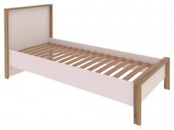 posteľ ARUBA s roštom 90x200 cm biela / dub Wotan