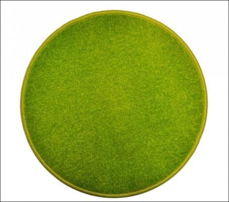 Eton zelený koberec guľatý