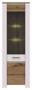 Vitrína Aruba 6 s LED osvetlením biela / dub Wotan