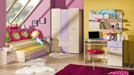 Detská izba Melisa II - jaseň/fialová