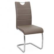 Jedálenská stolička, ekokoža hnedá / chróm, Abir NEW   tempo Kondela