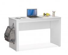 Jednoduchý písací stôl Pure - biela