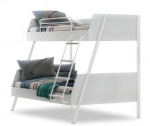 Študentská poschodová posteľ 90x200-120x200cm Pure - biela