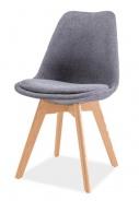 Jedálenská stolička DIOR buk / tmavo šedá